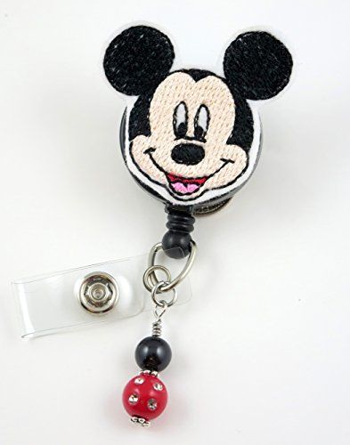 Cute Mickey - Nurse Badge Reel - Retractable ID Badge Holder - Nurse Badge - Badge Clip - Badge Reels - Pediatric - RN - Name Badge Holder