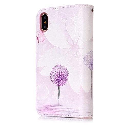 Mxnet IPhone X Case, Leopard und Bowknot Pattern Horizontal Flip Ledertasche mit Halter & Kartensteckplätze & Wallet & Photo Frame ( Size : Ip8g3633j )