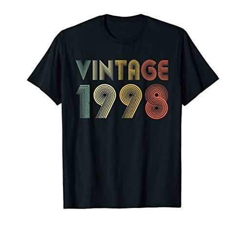 Retro Vintage 1998 TShirt 21st Birthday Gifts 21 Years Old