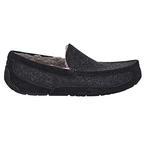 UGG Mens Ascot Wool Slipper, Black TNL, Size 11 (Sale For Uggs Men)