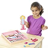 """Melissa & Doug Abby & Emma Magnetic Dress-Up Set, Wooden Dress-Up Dolls, Pretend Play, 2 Play Sets in One, 55+ Pieces, 1.25"""" H x 11"""" W x 14"""" L"""
