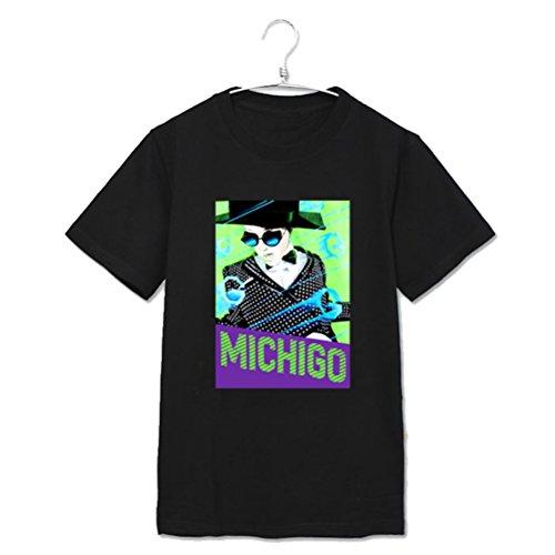 Kpop GD T-shirt YG Family Bigbang MV Clip MichiGO Tshirt G-Dragon Unisex Cotton Tee (Type1, S)