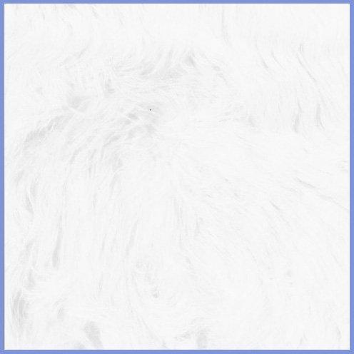 Faux Fur Luxury Shag White Fabric