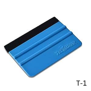TECKWRAP Plastic Felt Edge Squeegee 4 Inch for Car Vinyl Scraper Decal Applicator Tool 1 pcs (with Black Felt Edge)