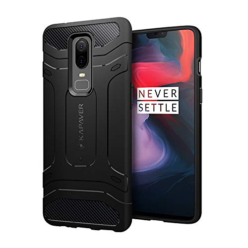 ab02f5836d1 KAPAVER OnePlus 6 Case Premium Tough Rugged Solid Black Sho Rs. 449 ( 59%