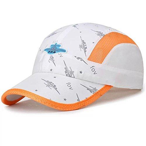 JOYEBUY Kids Girl Boy Lightweight Quick Drying Sun Hat Summer UV Protection Baseball Cap (White Brush Cotton Hat)