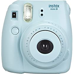 Fujifilm Instax Mini 8 Fotocamera Istantanea per Stampe Formato 62x46 mm, Blu