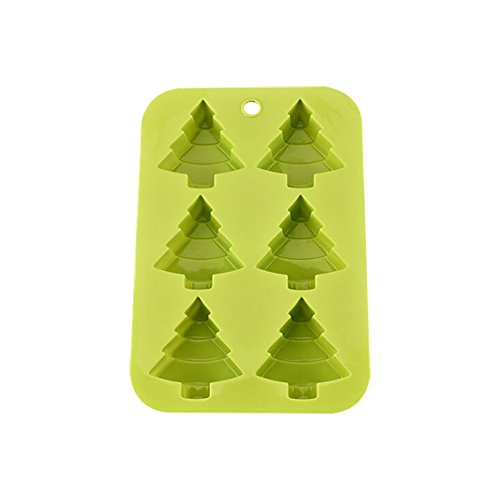 (Handfly 6 Christmas Tree Silicone Cake Baking Mold Cake Pan Handmade Soap Moulds Biscuit Chocolate Ice Cube Tray DIY Mold)