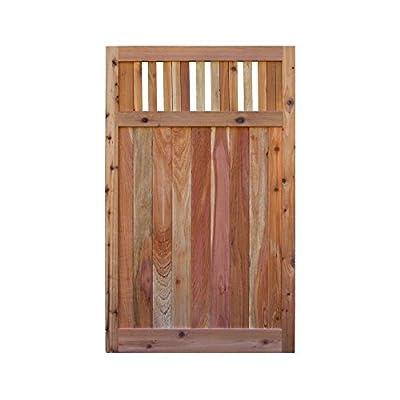 Signature Development 3.5 ft. H W x 6 ft. H H Western Red Cedar Flat Top Vertical Lattice Fence Gate