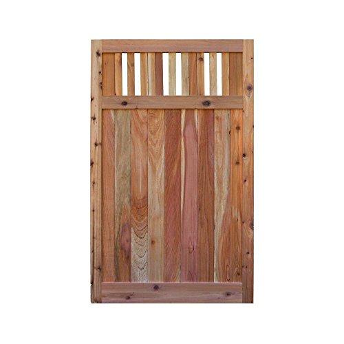 - Signature Development 3.5 ft. H W x 6 ft. H H Western Red Cedar Flat Top Vertical Lattice Fence Gate