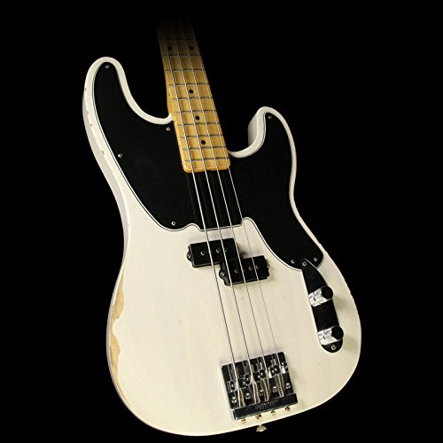 Fender Mike Dirnt Roadworn Precision Bass, MN, White Blonde