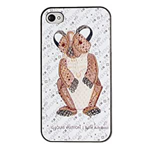 Kangaroo Pattern PC Hard Case with Black Frame for iPhone 4/4S