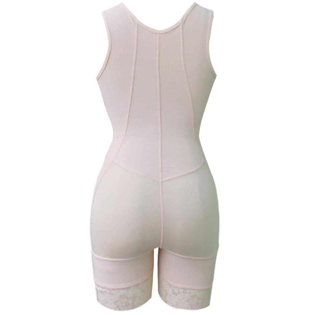 Fanteecy Womens Zipper Tummy Control Corset Post Surgery Girdle Full Body Shaper Cincher Shapewear Bodysuit Shorts