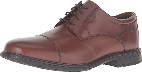 Rockport Men's Essential Details II Waterproof Cap Toe Tan Antique Leather Oxford 11.5 M (D)