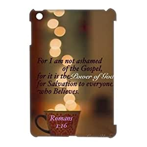 wugdiy Personalized Durable 3D Case Cover for iPad Mini with Brand New Design christian verses