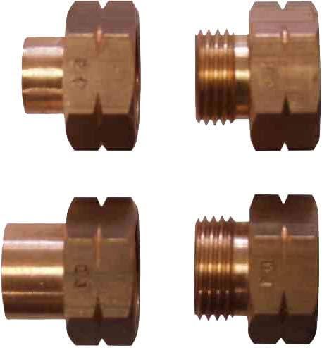 TGO Euro-FÜLL - Juego de 4 adaptadores de conexión para bombonas de gas