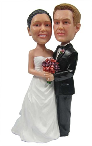 Unibobble 7 Inches Custom Made Wedding Couples Bobble head Doll From Head To Toe Based On Your Photos 100% satisfaction