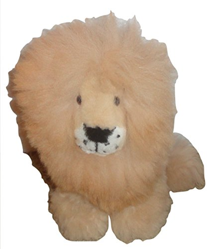 Baby Alpaca Fur Lion Stuffed Animal Handmade in Peru