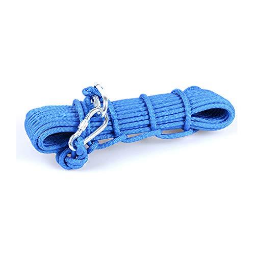 気配りのある既に彼らの屋外クライミングロープ、高層火災救助ロープ緊急ロープ救命ロープワイヤーコア安全ロープスペアロープ、直径10ミリメートル8ミリメートル耐久性 (色 : オレンジ, サイズ : 8mm wide 10m long)