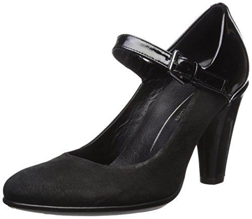 Round Femme Black Ecco Elegant 75 Shape Escarpins Noir Black EBzzpq8