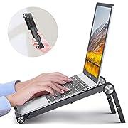 #LightningDeal Portable Laptop Stand Foldable, DesertWest Ergonomic Laptop Stand for Desk Adjustable Height Ventilated [Super Lightweight] Laptop Riser for MacBook Air Pro HP Lenovo XPS Asus 13 14 15 16 Inch, 7.2 OZ