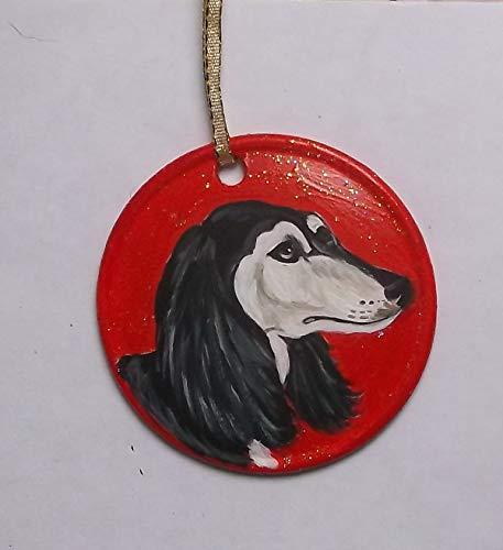 Saluki Dog Christmas Ornament Custom Hand Painted