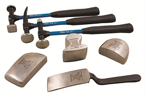 Martin Tools 7 Pc Sheet Metal Fender Body Hammer & Dolly Set 647KFG
