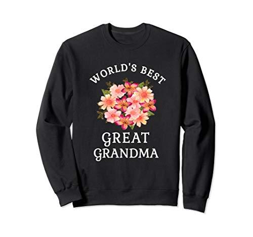 Worlds Best Great Grandma Pink Peach Flower Sweatshirt