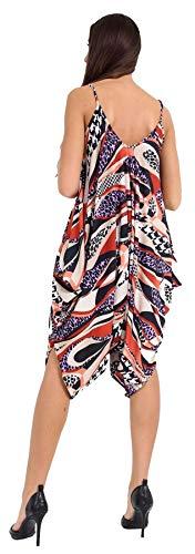 estampado tama para Estampado mujer un o Jumpsuit multicolor en mangas 21fashion sin H5wIqYv
