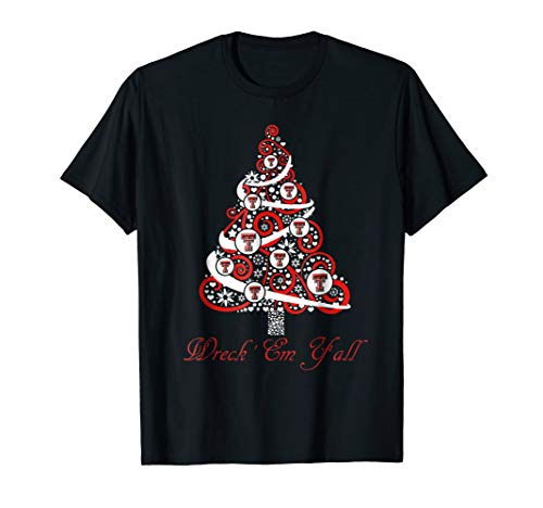 - Texas Tech Red Raiders Christmas Tree T-Shirt - Apparel