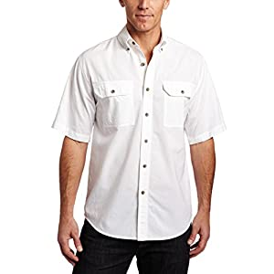 Carhartt Men's Fort Short-Sleeve Shirt Lightweight Chambray Button-Front S200