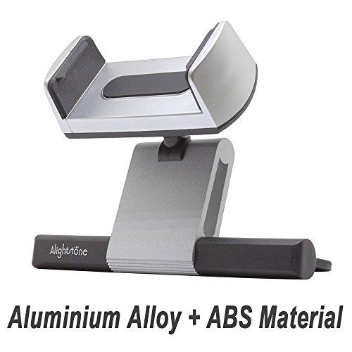Smartphone Holder For Car CD Slot Aluminium Alloy Phone Holder Car Mount Holder For iPhone X/8/8Plus/7/7Plus/6s/6P/5S Galaxy S5/S6/S7/S8 Google LG Sony etc Sliver