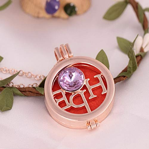 - Mikash Silver Locket Necklace Fragrance Essential Oil Aromatherapy Diffuser Pendant | Model NCKLCS - 42222 |