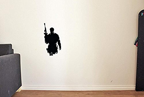 of Stickers Military Decor Vinyl Soldier Army Decals Wall Call Duty Silhouette KM1706 by ANewDecals