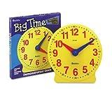 LRNLER2094 - Big Time Learning Clocks 12-Hour Demonstration Clock for Grades K-4