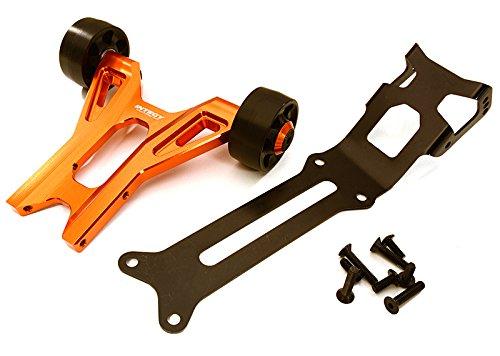 Kit Tlr Key (Integy RC Model Hop-ups C27985ORANGE Billet Machined Wheelie Bar Kit for Traxxas X-Maxx 4X4)