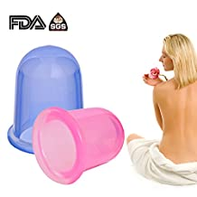 Anti Cellulite Cup Silicone Cupping Therapy Set Body Massage Cups Include 1 x Medium Body Cup, 1 x Large Body Cup