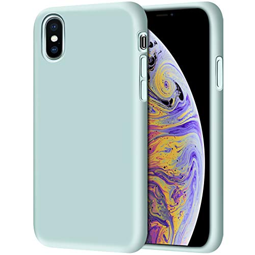 iPhone Xs Case, iPhone X Case, Anuck Soft Silicone Gel Rubber Bumper Case Anti-Scratch Microfiber Lining Hard Shell Shockproof Full-Body Protective Case Cover for iPhone X/Xs 5.8