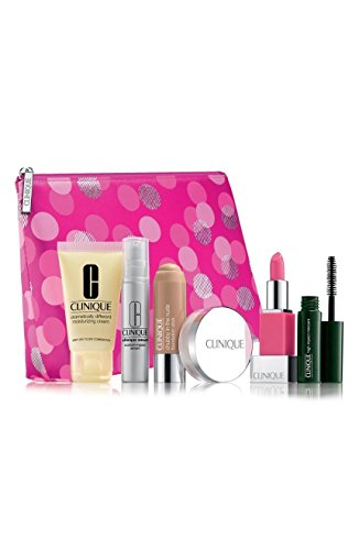 NEW 2016 Clinique 7pc Skincare Makeup Gift Set NEUTRAL Foundation, Smart Custom-Repair Serum & More! ($75 Value)