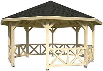 ITALFROM cenador de Madera pérgola tettoia Pabellones de Madera de jardín M² 18 italfromgiard3: Amazon.es: Hogar
