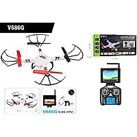 Soogo V686G 5.8G 4-CH 6-Axis Gyro FPV 4G Memory Card + 2.0MP Camera 2.4GHz RC Quadcopter (3.7V 730mAh Battery) Left Hand Control