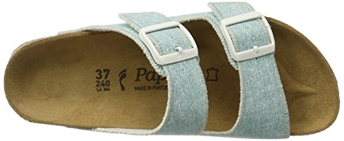 P-A Arizona Birko-flor - Mules Mujer Blau (Beach Light Blue)