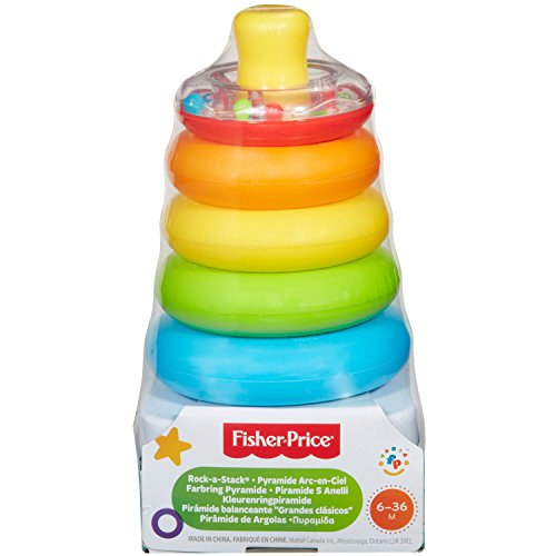 Fisher Price Brilliant Basics Rock A Stack   Babies Practice Fine Motor Skills As They Sort And Stack The Rings