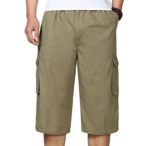 Wantdo Pantalones Cortos de Cargo Bermuda para Hombres