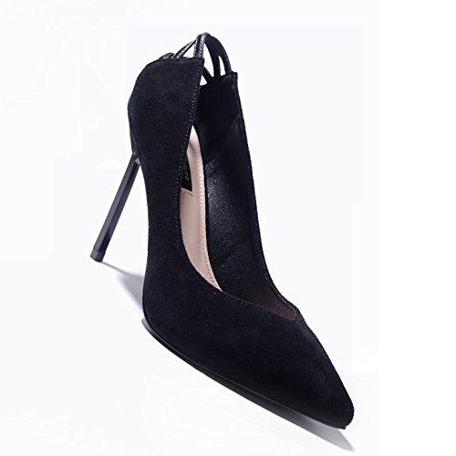 Partie Noir Chaussures UK Travail Black Mariage De 3 Cour Sexy 35 Talons Princesse Chaussures EU Discothèque 9cm Haute Mode Femme 7XU6Pd7n