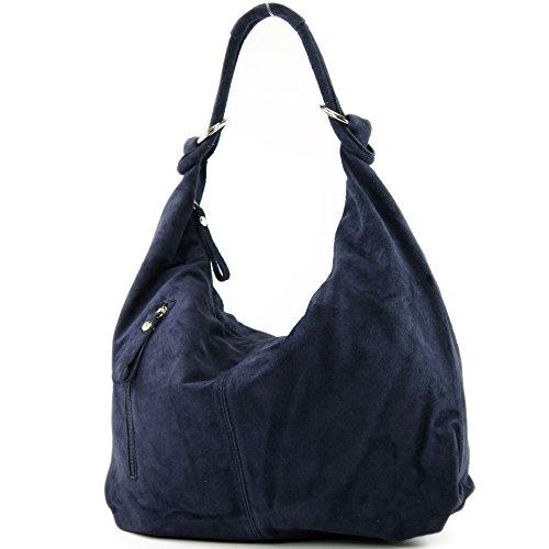 Dark Leather modamoda Leather Hobo Bag Bag Leather Wild T158 ital Blue de Large Bag ww4xqZ7faB