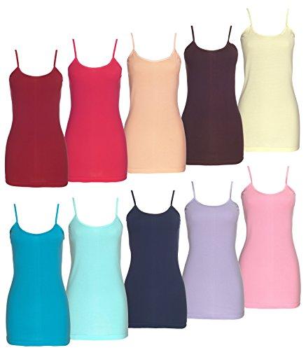 Spaghettitop Trendfarben Unterhemd Basictop Übergröße Toppreis Qualität stylenmore Farbe dunkelblau, Größe 48-50