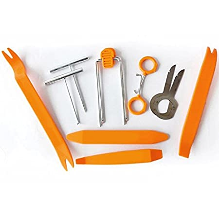 Zhuhaitf Pratique Orange 4PCS/12PCS Removal Pry Tool Kit Car Radio Stereo Door Trim Dash Panel TF-xin-011-1
