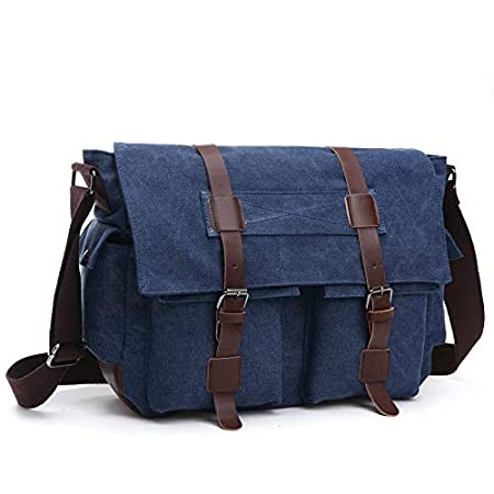 Amazon.com : DingXiong Vintage Men Messenger Bags Canvas ...