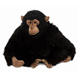 "18"" Life-Like Handcrafted Extra Soft Plush Adult Chimp Stuffed Animal - 41RW4RZ7GdL - 18″ Life-Like Handcrafted Extra Soft Plush Adult Chimp Stuffed Animal"